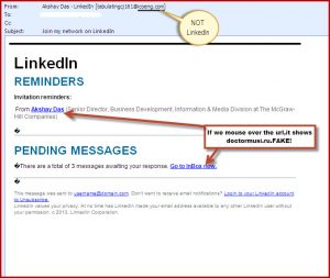 Phishing Spoof emails